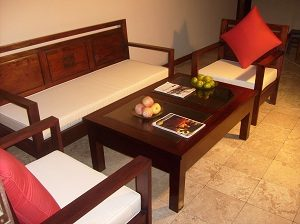 Teak Wood Round Sofa Makers In Sleek Mumbai Homes Design